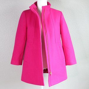 Talbots Albury Wool Pink Coat Woven in Italy 6P
